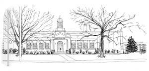 Clarence Center drawing